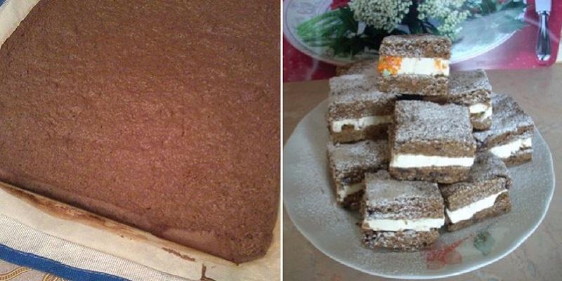 Пирожное «Сэндвич» — любимый рецепт домашней выпечки ленивых мам
