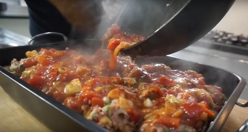Мясо для фарша, 3 баклажана — и блюдо готово. Готовлю баклажаны с завязанными глазами.