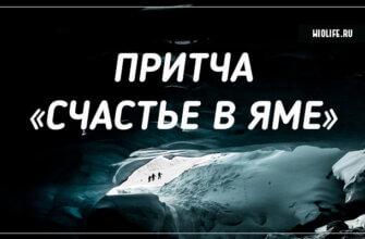 Притча «Счастье в яме»